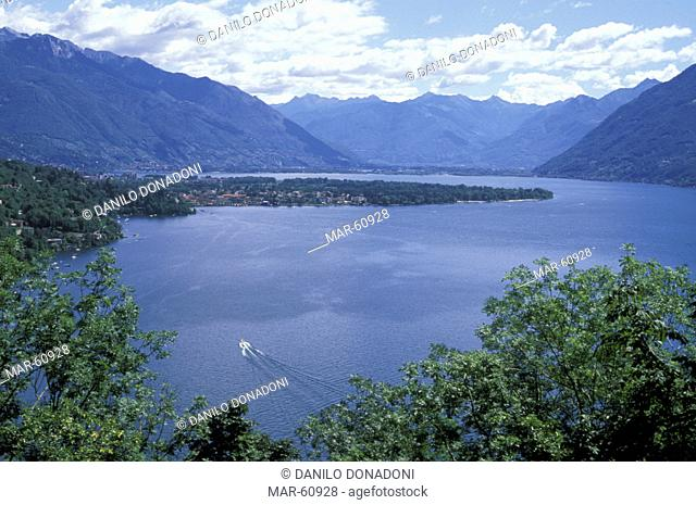 maggiore lake near ascona, ronco, switzerland