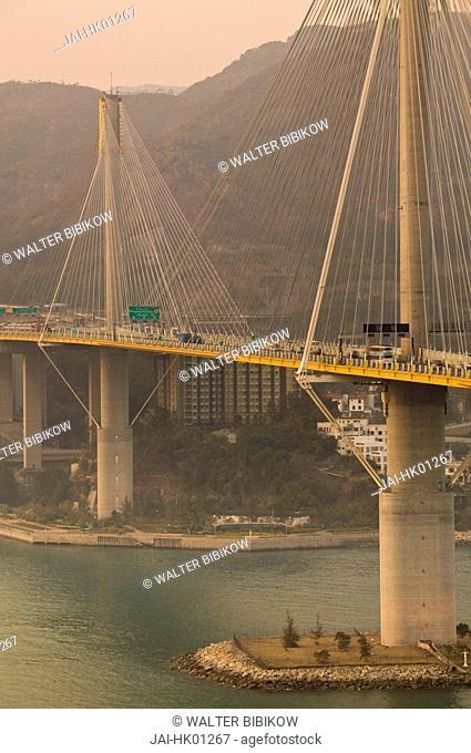 China, Hong Kong, New Territories, Ting Kau Bridge, links Tsing Yi Island and Ting Kau