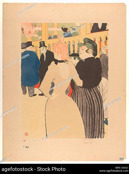 At the Moulin Rouge: La Goulue and Her Sister. Artist: Henri de Toulouse-Lautrec (French, Albi 1864-1901 Saint-André-du-Bois); Printer: Edward Ancourt (French