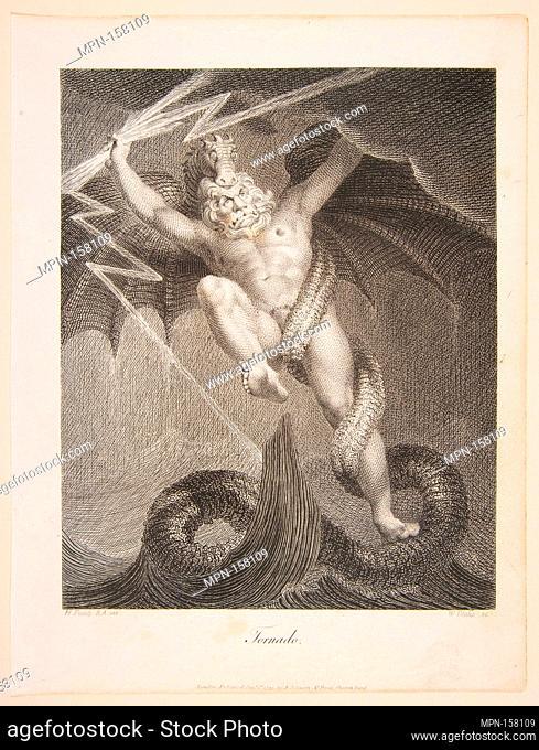 Tornado-Zeus Battling Typhon. Artist: After Henry Fuseli (Swiss, Zürich 1741-1825 London); Artist: William Blake (British