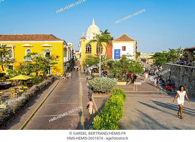 Colombia, Bolivar department, Cartagena, historical center listed as World Heritage by UNESCO, district of Centro, Calle San Juan de Dios