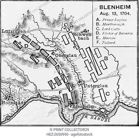 'The Battlefield of Blenheim', c1895, (1903). Artist: Unknown