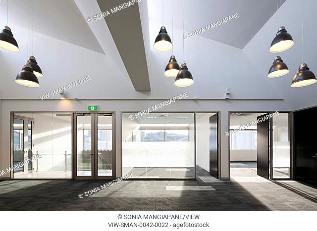 Another reception and office area of the building (unfurnished). Silver Top Taxi Headquarters, Melbourne, Australia. Architect: Baldasso Cortese Architects