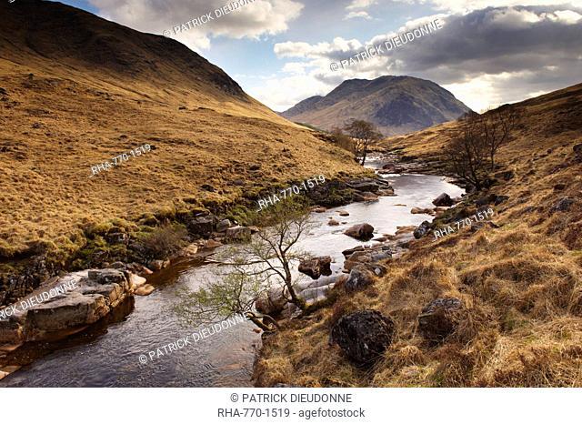 Glen Etive, near Glen Coe Glencoe, Highland region, Scotland, United Kingdom, Europe