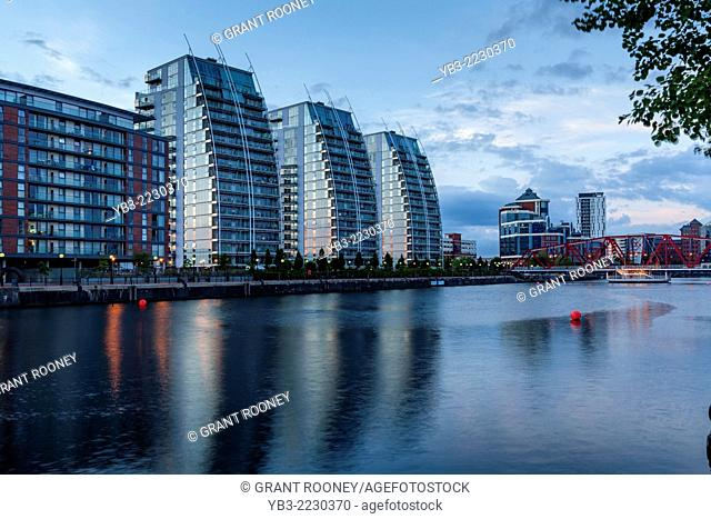 The NV Buildings, Huron Basin, Salford Quays, Manchester, England