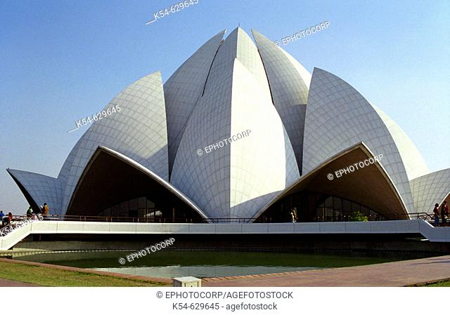 Lotus Temple, Delhi Located in Kalkaji in the south of Delhi, it is lotus shaped and has rightly been given the name. It is made of marble, cement
