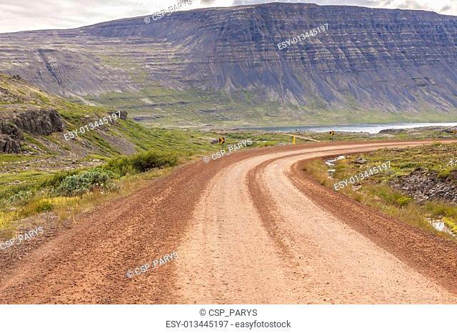 Gravel empty route - Westfjords, Iceland