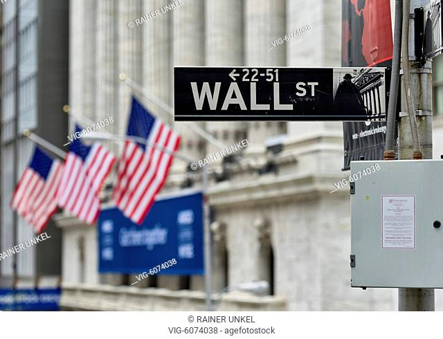 USA : New York stock exchange at Wall Street , 06.05.2018 - New York, New York, USA, 06/05/2018