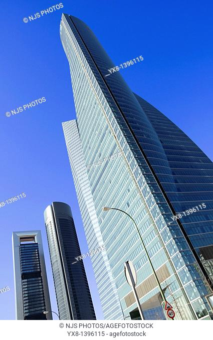View of Cuatro Torres Business Area, Madrid, Comunidad de Madrid, Spain, Europe