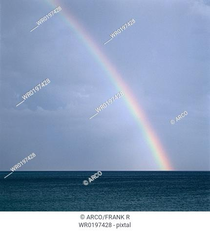Rainbow, over, the, atlantic, Algarve, Portugal