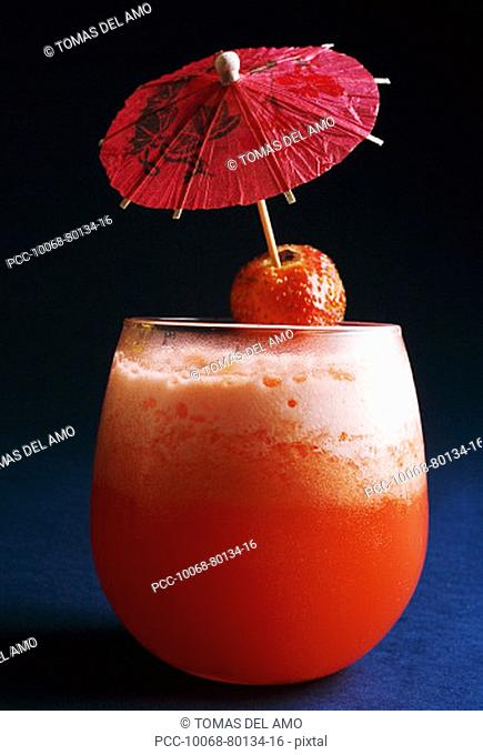Close-up of an exotic tropical drink