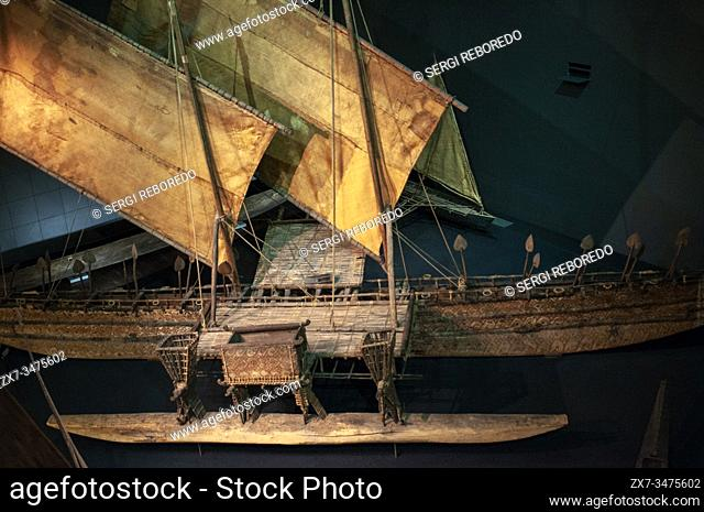 Ethnological Museum of Berlin, ships, division South Sea, Lansstrasse, Dahlem, Berlin, Germany / Ethnologisches Museum