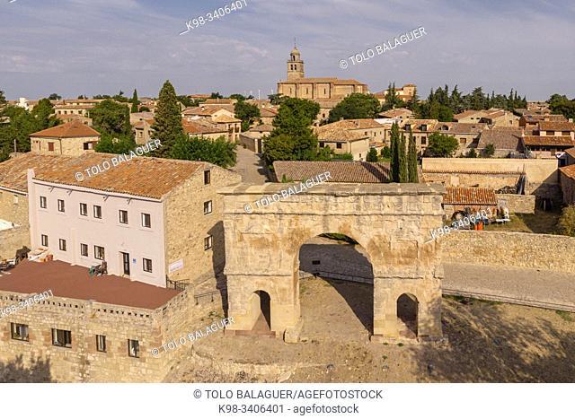 arco de triunfo romano, siglo I a. C. , Medinaceli, Soria, comunidad autónoma de Castilla y León, Spain, Europe
