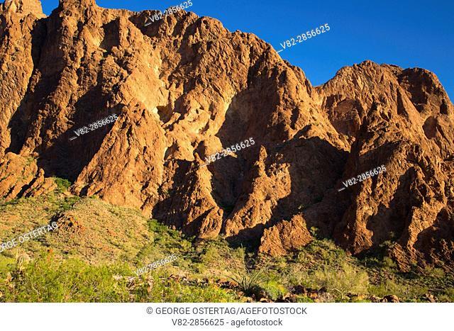 Cliffs along Palm Canyon Trail, Kofa National Wildlife Refuge, Arizona
