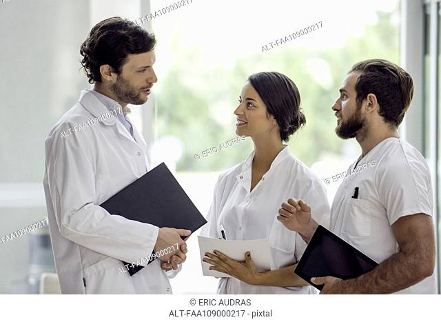 Healthcare professionals working together