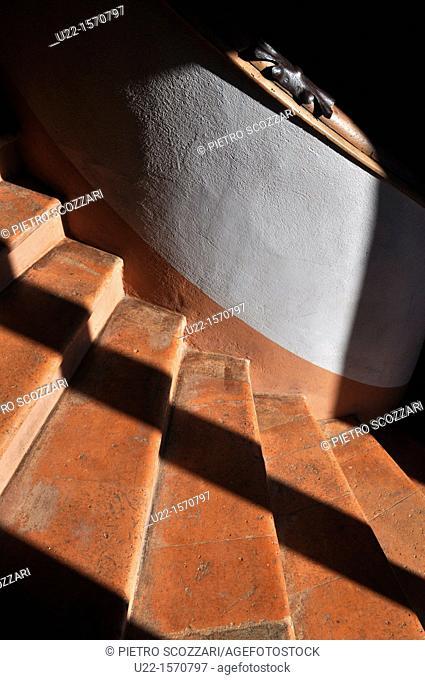 Vignola (Modena, Italy): detail of the winding staircase at Palazzo Barozzi