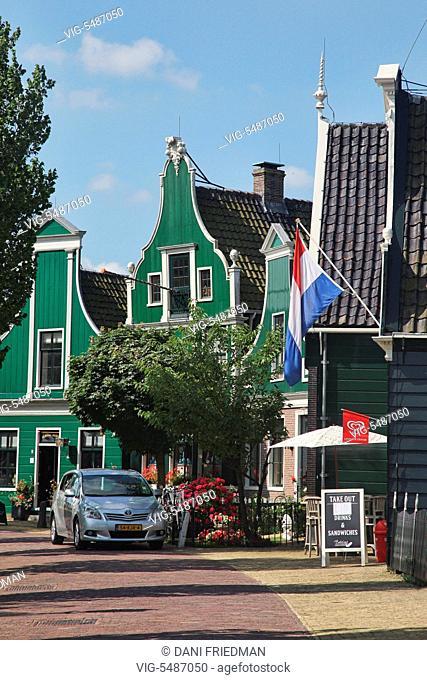 Traditional Dutch shops in the small town of Zaanse Schans, Holland, Netherlands, Europe. - ZAANSE SCHANS, HOLLAND, NETHERLANDS, 16/07/2014