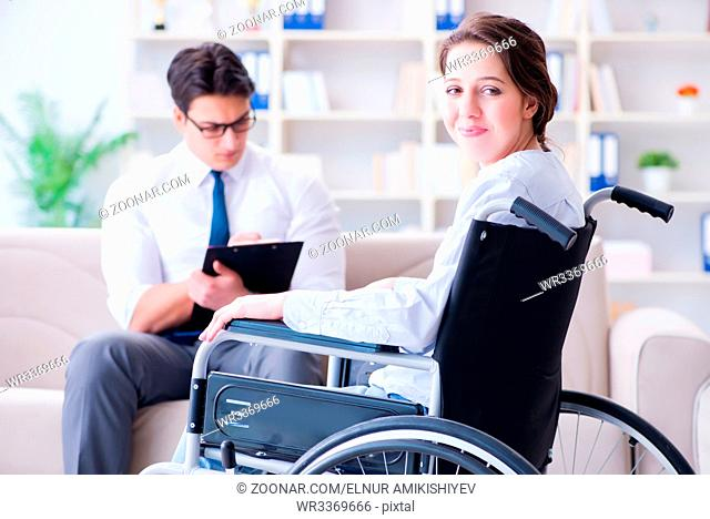 Patient visiting psychotherapist to deal with consequences of trauma