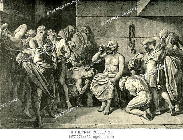 'Socrates Drinking the Hemlock', 1890. Creator: Unknown