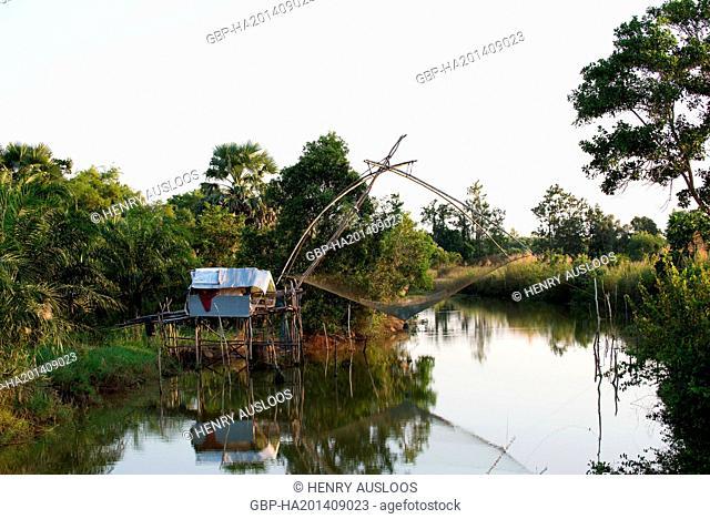 Thailand, Phatthalung, sunset