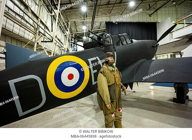 England, London-Hendon, RAF Museum London, Battle of Britain Gallery, RAF Bolton-Paul Defiant, night fighter