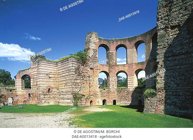 Calidarium, Imperial Baths (Kaiserthermen), Augusta Treverorum (UNESCO World Heritage Site, 1986), Trier, Rhineland-Palatinate, Germany