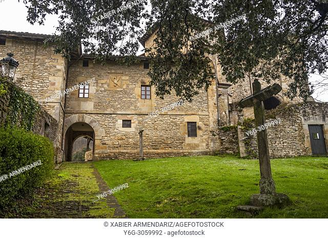 Collegiate Church of Zenarruza, on the North Santiago Road, Biscay, Basque Country, Spain