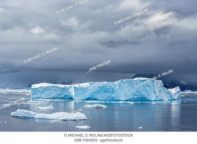 Icebergs in Neko Harbor, Andvord Bay, Antarctica, Southern Ocean