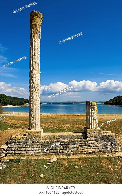 Remains Of Typical Summer Villa And Temple From Roman Times, Istria, Croatia