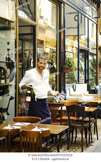Boss in full action at Racines restaurant of Pierre Jancou, Paris, France