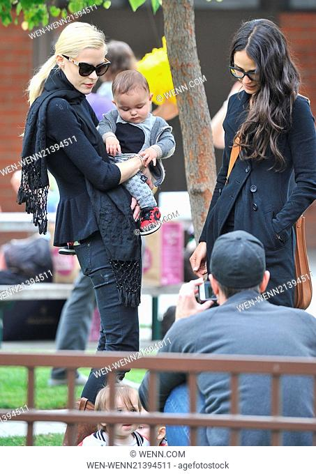 Jaime King and Jordana Brewster take their children to Coldwater Park in Beverly Hills for a playdate Featuring: Jaime King, Julian Form-Brewster