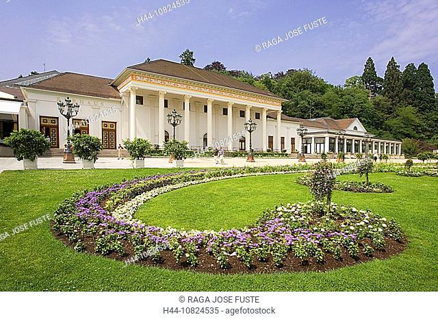 Germany, Europe, Baden Baden, pump room, cure, health, Resort, park, flowers