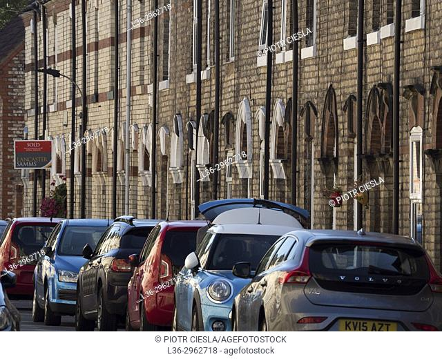 Great Britain. York. Parked cars