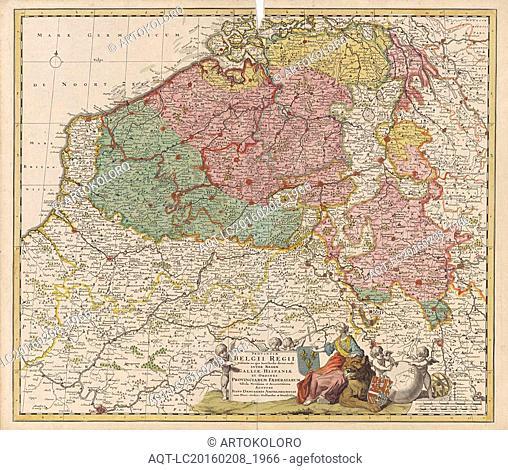 Map of the Southern Netherlands, Justus Danckerts, Staten van Holland en West-Friesland, 1696 - 1701