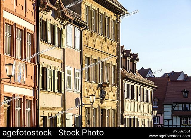 Germany, Bavaria, Bamberg, Row of historic townhouses