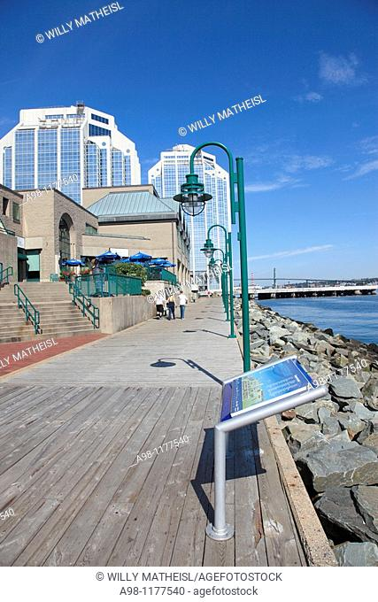 Downtown Harbour Walk of Halifax, Nova Scotia, Canada, North America