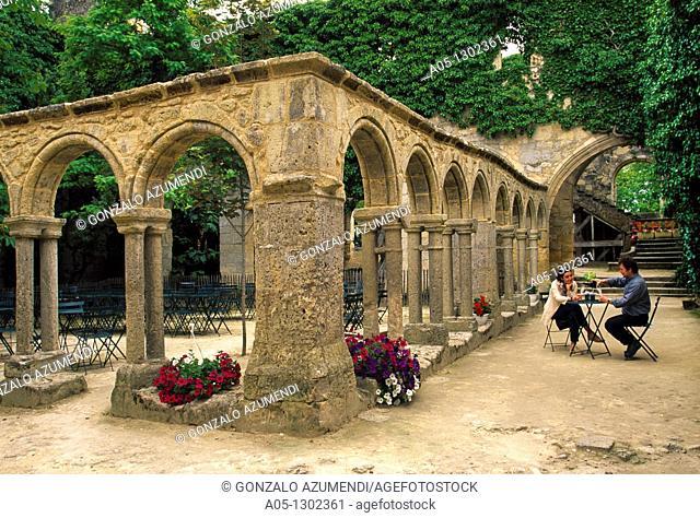 Cloister of Franciscan Convent, XIV Century St  Emilion Dordogne Valley. Bordeaux, Aquitaine, France