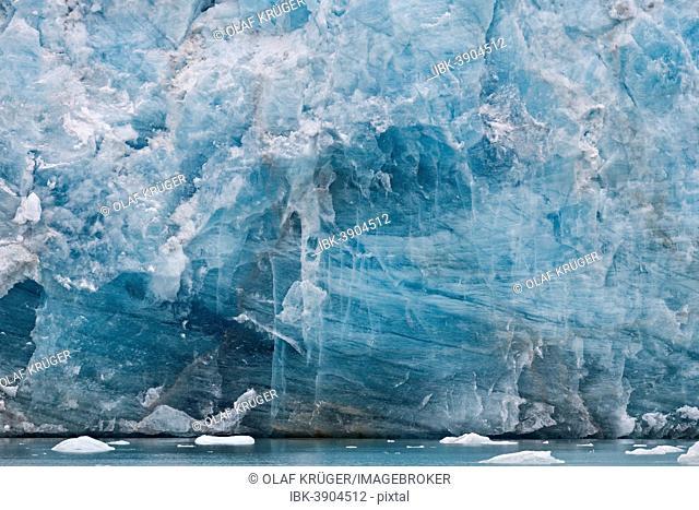 Glacial Scarps, Monacobreen glacier, Liefdefjorden fjord, Spitsbergen, Svalbard Islands, Svalbard and Jan Mayen, Norway