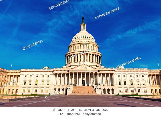Capitol building Washington DC eastern facade USA US congress