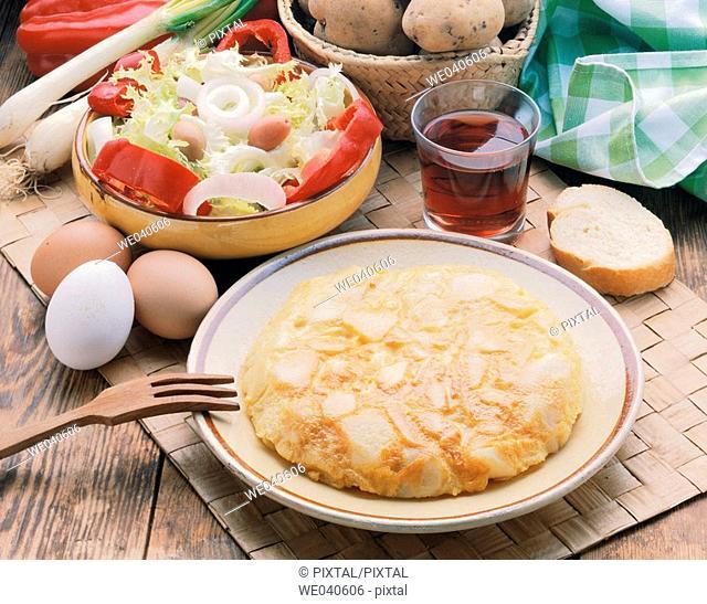 'Tortilla de patatas' Spanish potato omelette