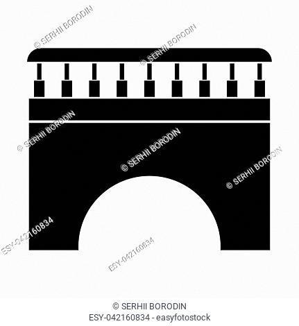 Bridge it is black color icon