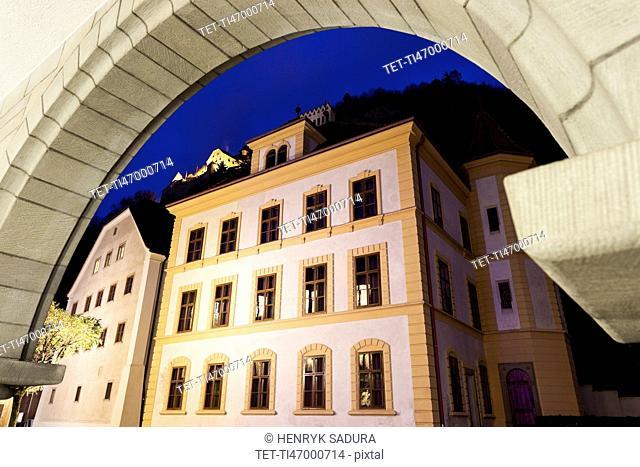 Liechtenstein National Museum seen through arch