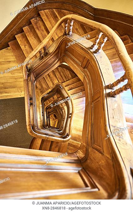 Wooden Stair view from Above