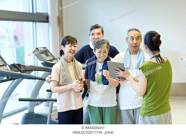 Sports instructor and senior