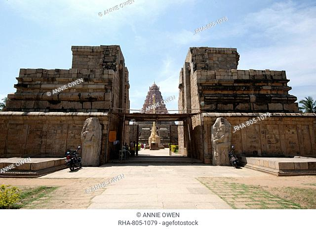 Entrance to Gangaikonda Cholapuram, built in the 11th century as the capital of the Chola dynasty in southern India, Tamil Nadu, India, Asia