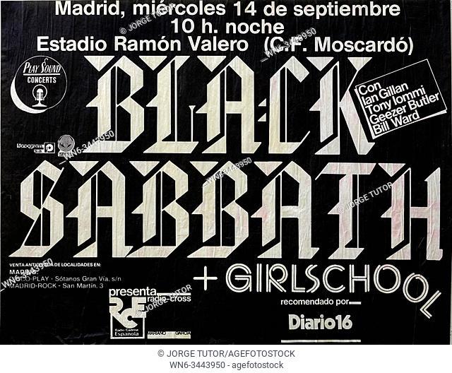 Black Sabbath Madrid tour 1983, Musical concert poster