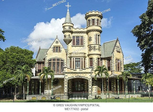 "Stollmeyers Castle, one of the """"Magnificent Seven"""" historic colonial homes facing Queens Park Savannah in Port of Spain, Trinidad island; Trinidad & Tobago"