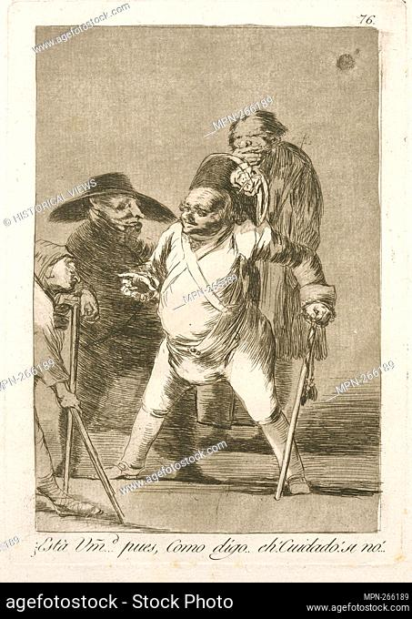 Está umd. pues, como digo. eh! Cuidado! Si nó!. Avery, Samuel Putnam, 1822-1904 (Collector) Goya, Francisco (1746-1828) (Artist) Rossetti