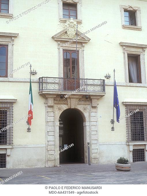 Prefecture Palace of Rieti, by Jacopo Barozzi also known as Vignola, 1580 - 1599, 16th Century. Italy, Lazio, Rieti, Vincentini Palace