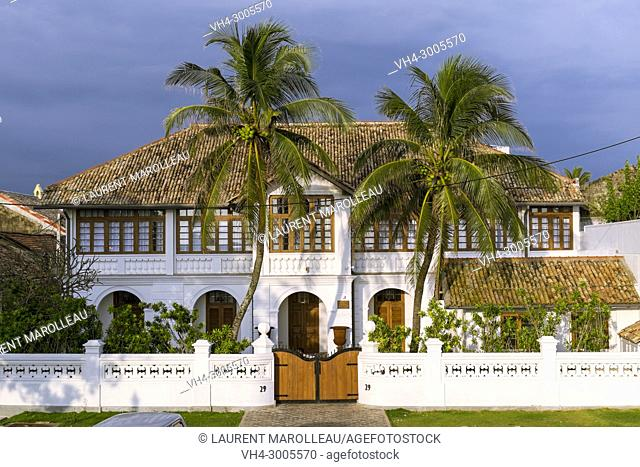 Typical House in Galle Fort, Old Town of Galle and its Fortifications, Southern Province, Sri Lanka, Asia